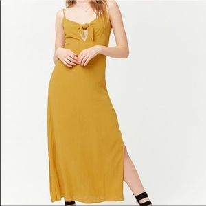 Forever 21 Mustard Long Dress w Bow